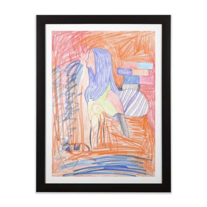 The Golden Hair Woman Home Framed Fine Art Print by nagybarnabas's Artist Shop