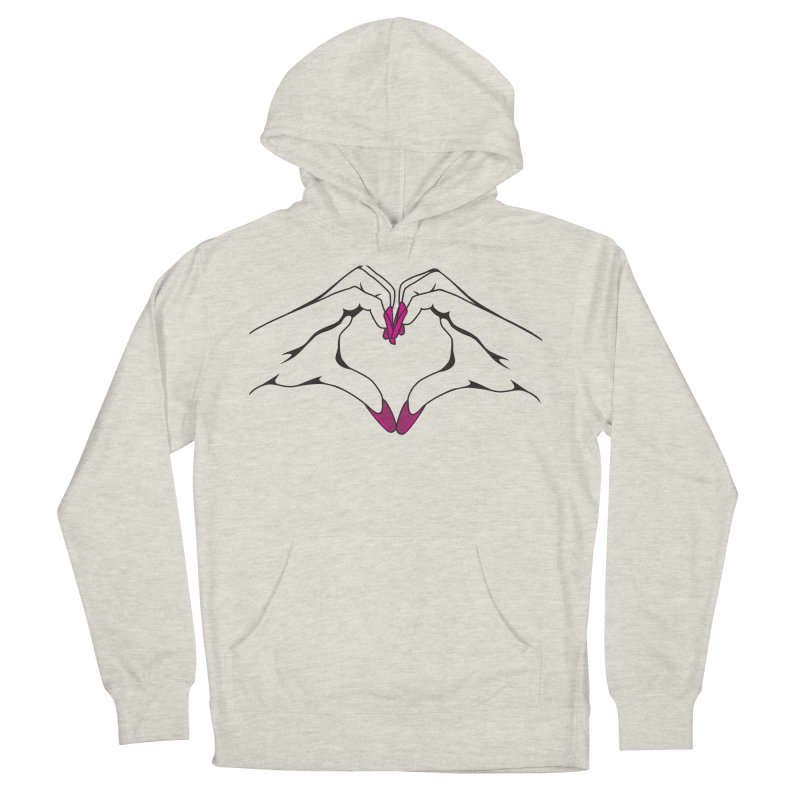 I ❤️ NAILS in Women's French Terry Pullover Hoody Heather Oatmeal by Nails & Threads