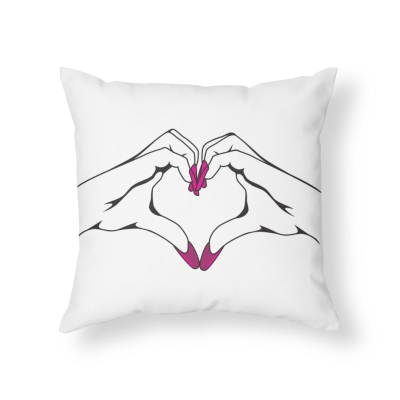I ❤️ NAILS Home Throw Pillow by Nails & Threads