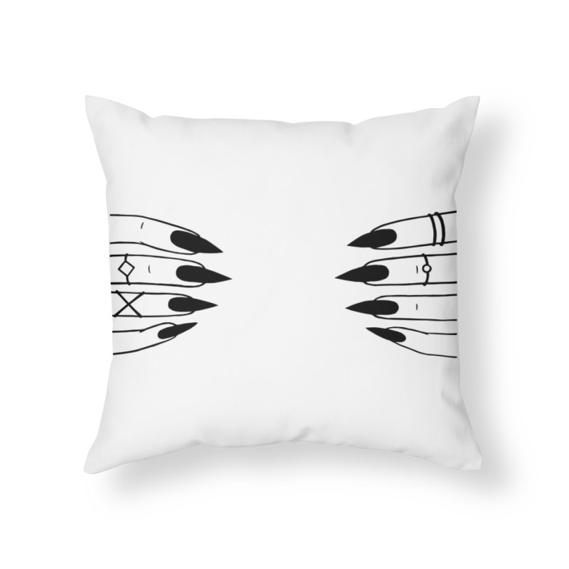 Wicked Home Throw Pillow by Nails & Threads