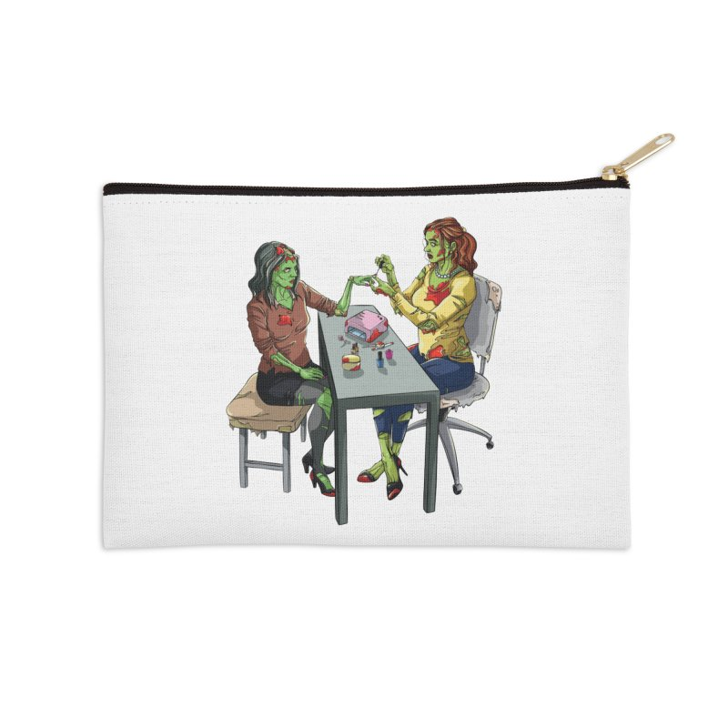 Zombie Salon Accessories Zip Pouch by Nails & Threads