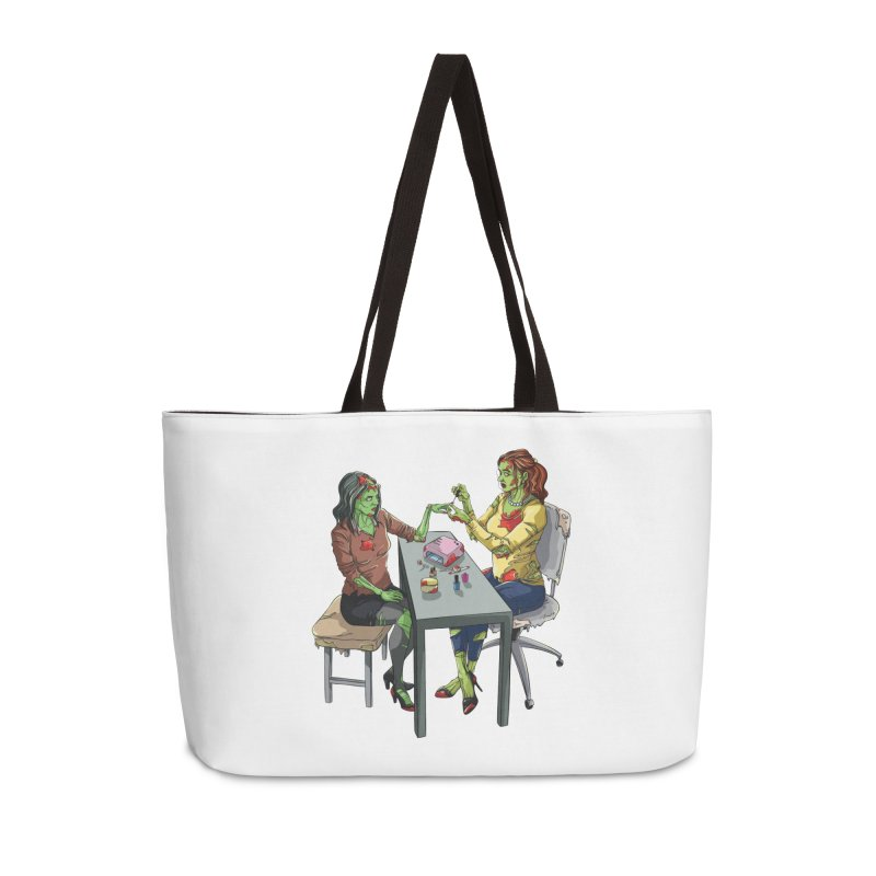 Zombie Salon Accessories Weekender Bag Bag by Nails & Threads