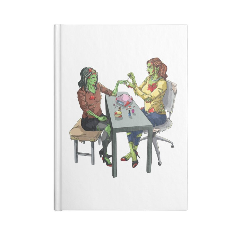 Zombie Salon Accessories Lined Journal Notebook by Nails & Threads