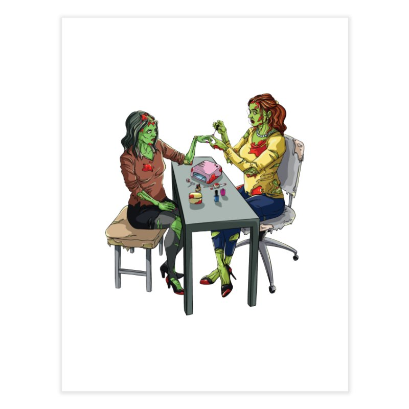 Zombie Salon Home Fine Art Print by Nails & Threads