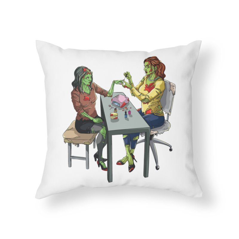 Zombie Salon Home Throw Pillow by Nails & Threads