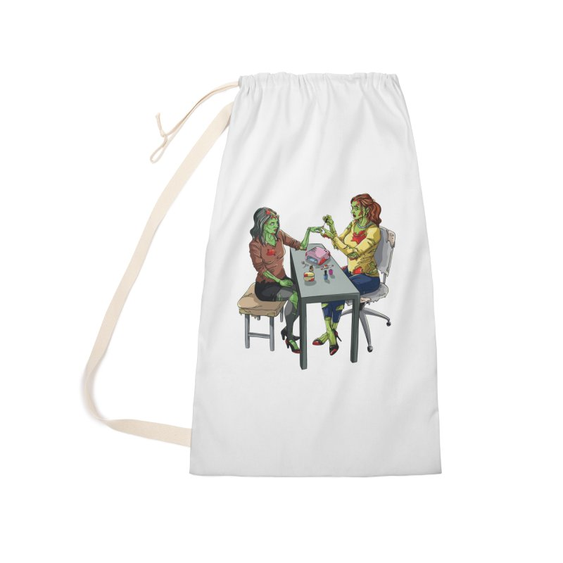 Zombie Salon Accessories Laundry Bag Bag by Nails & Threads