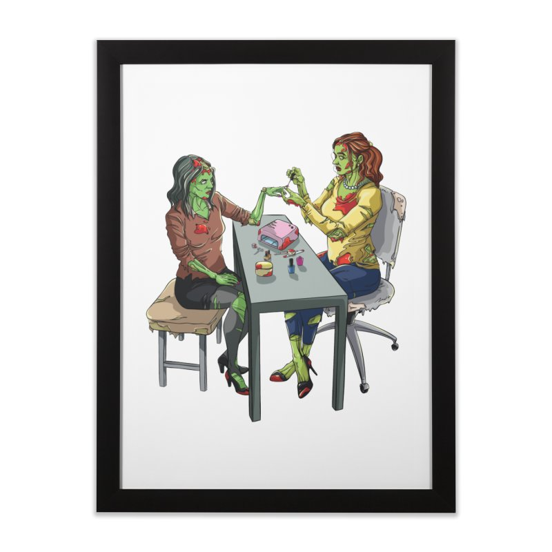 Zombie Salon Home Framed Fine Art Print by Nails & Threads