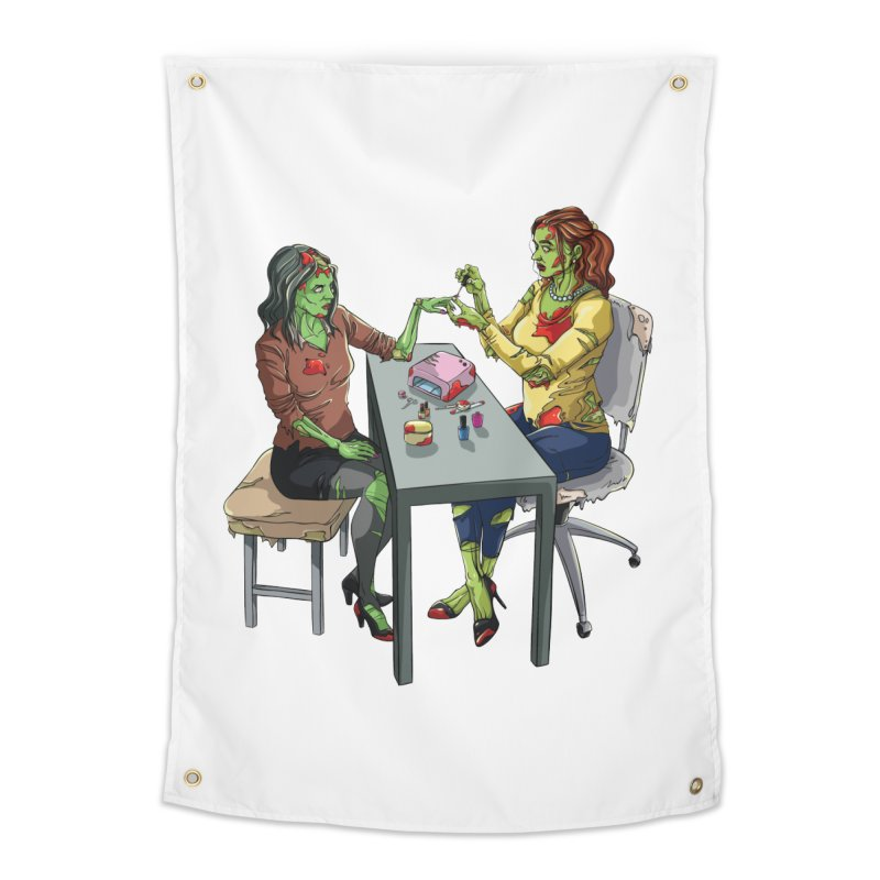 Zombie Salon Home Tapestry by Nails & Threads