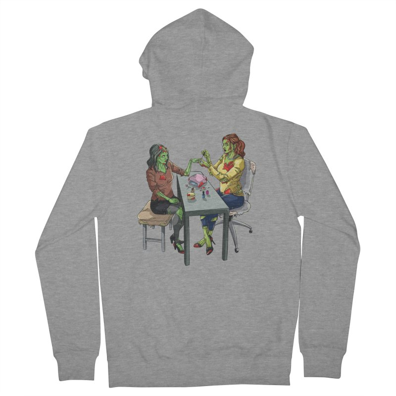 Zombie Salon Women's French Terry Zip-Up Hoody by Nails & Threads