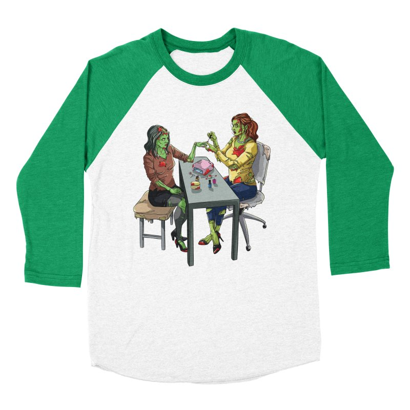 Zombie Salon Women's Baseball Triblend Longsleeve T-Shirt by Nails & Threads