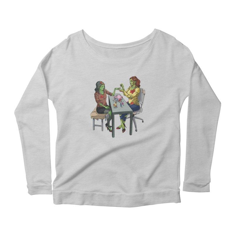 Zombie Salon Women's Scoop Neck Longsleeve T-Shirt by Nails & Threads