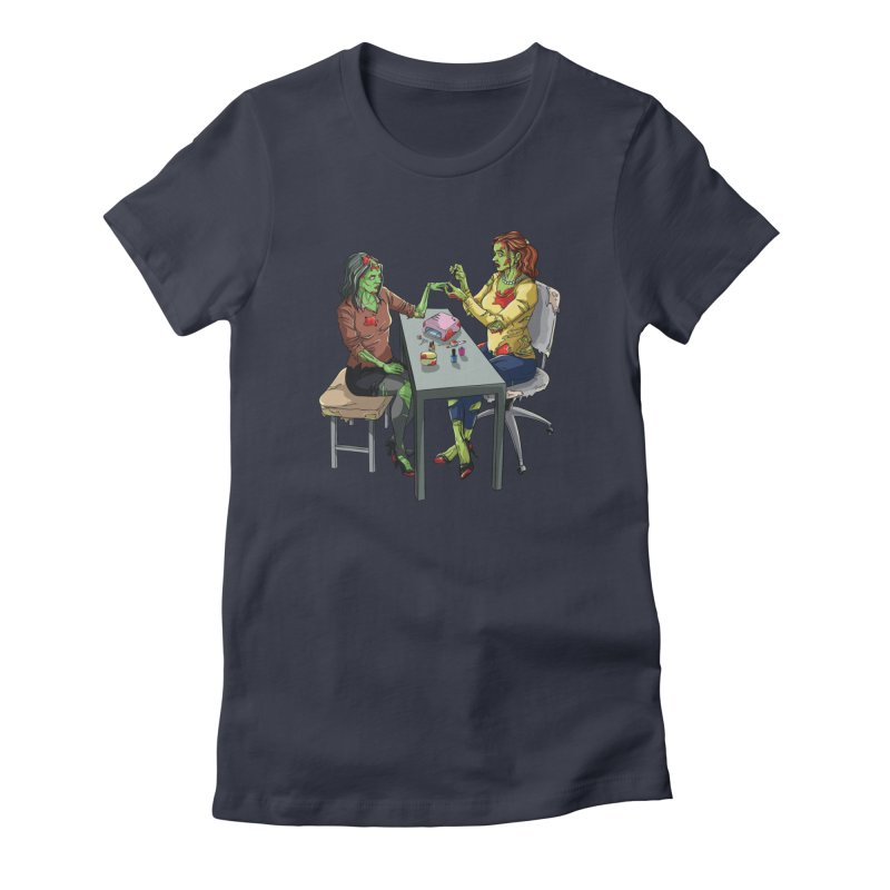 Zombie Salon in Women's Fitted T-Shirt Midnight by Nails & Threads