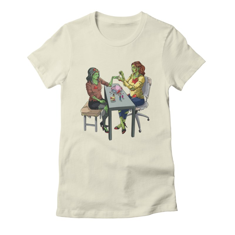 Zombie Salon Women's Fitted T-Shirt by Nails & Threads