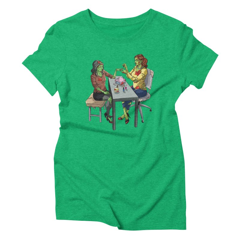 Zombie Salon Women's Triblend T-Shirt by Nails & Threads