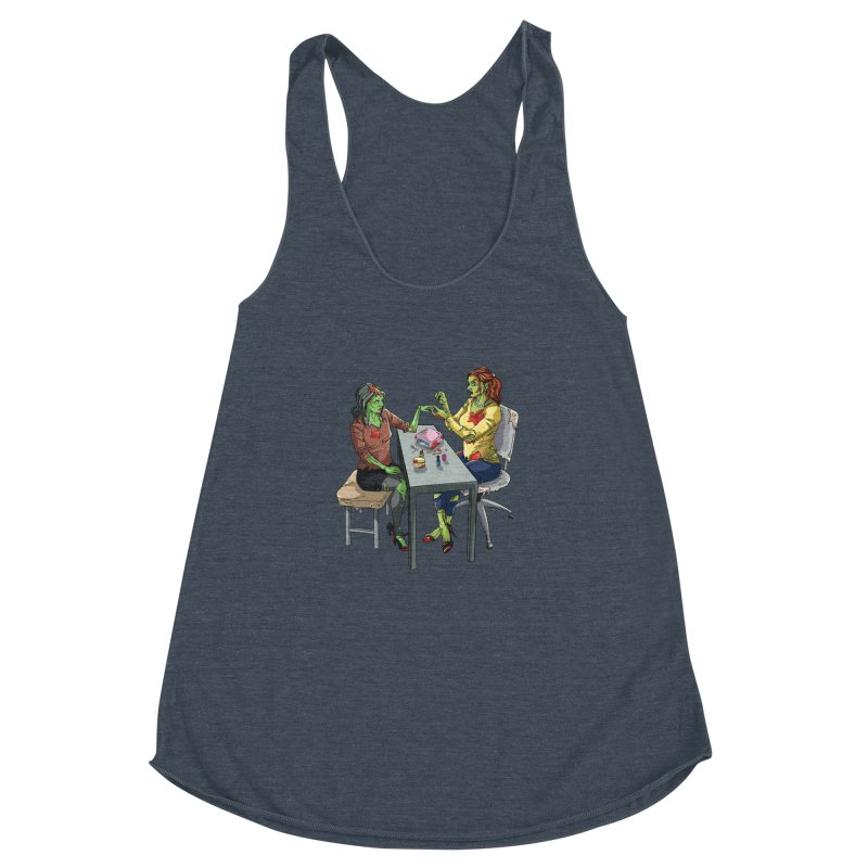 Zombie Salon Women's Racerback Triblend Tank by Nails & Threads