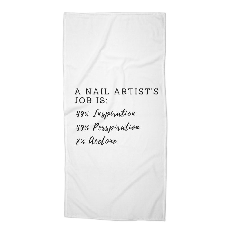 Nail Tech Composition Accessories Beach Towel by Nails & Threads