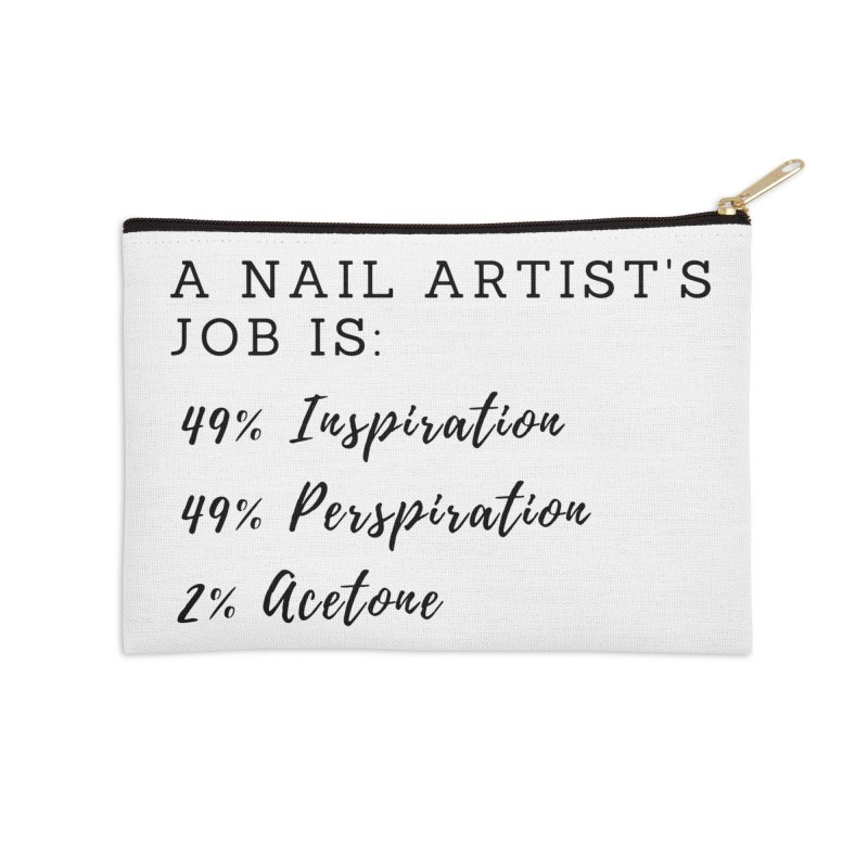 Nail Tech Composition Accessories Zip Pouch by Nails & Threads