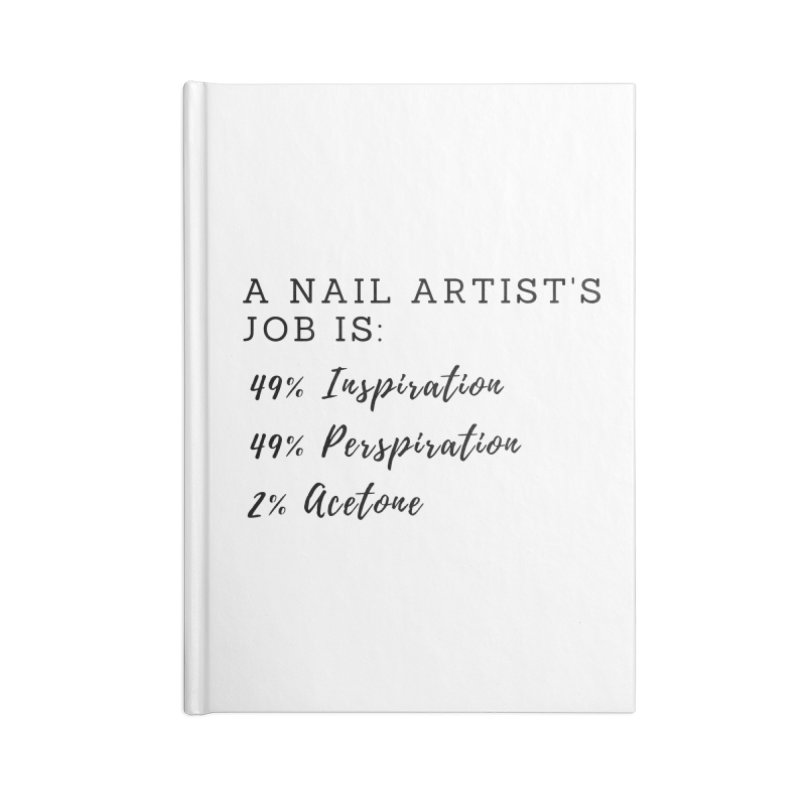 Nail Tech Composition Accessories Lined Journal Notebook by Nails & Threads