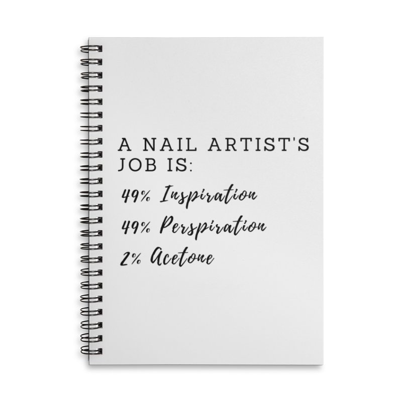 Nail Tech Composition Accessories Lined Spiral Notebook by Nails & Threads