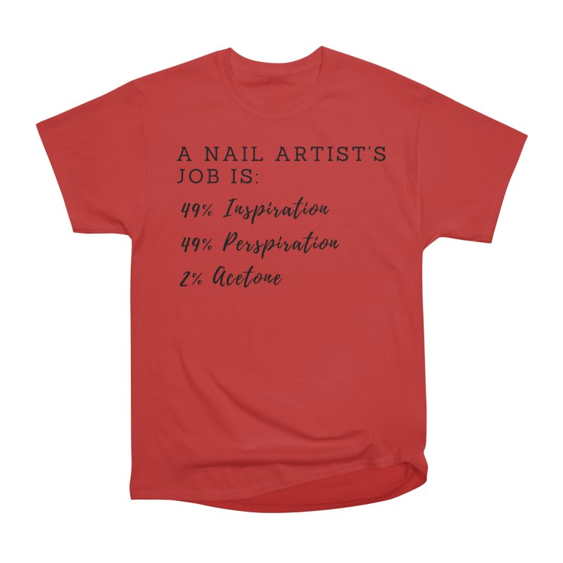 Nail Tech Composition Women's Heavyweight Unisex T-Shirt by Nails & Threads