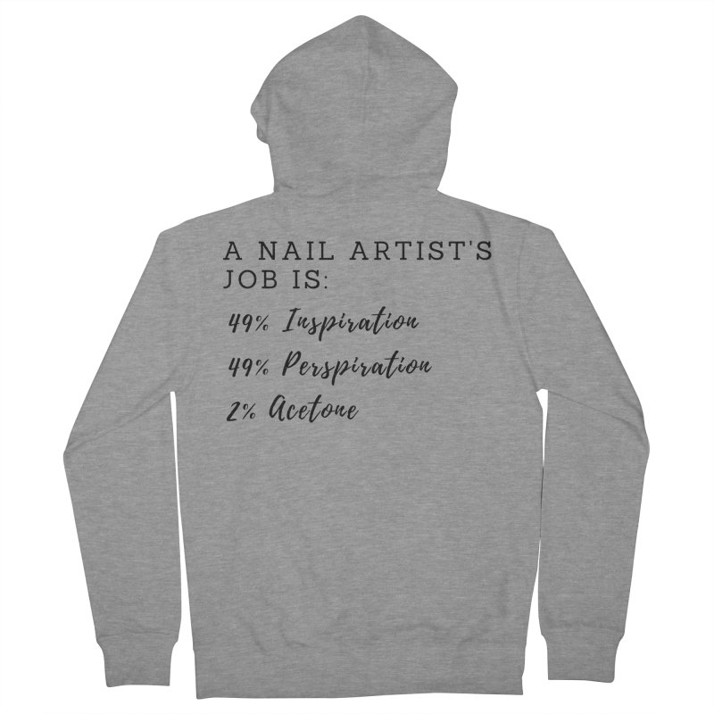 Nail Tech Composition Women's French Terry Zip-Up Hoody by Nails & Threads