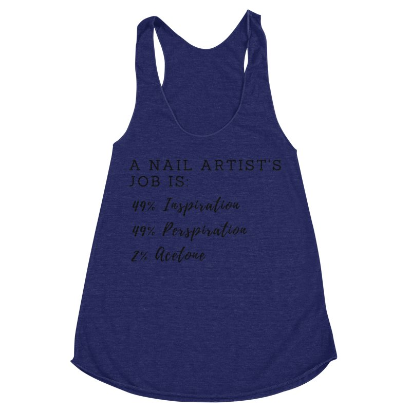 Nail Tech Composition Women's Racerback Triblend Tank by Nails & Threads