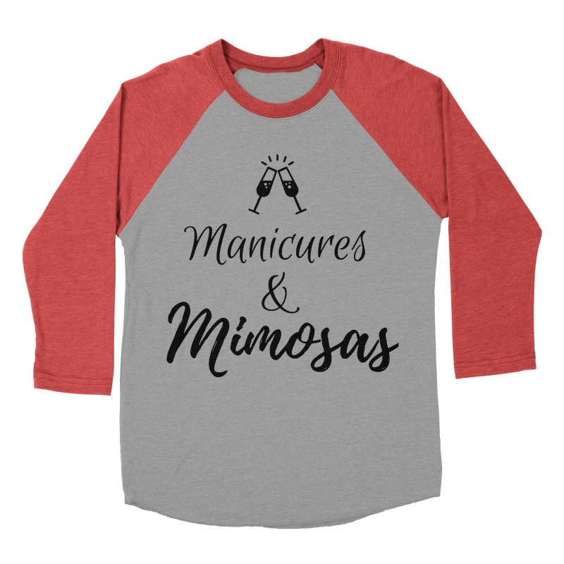 Manicures & Mimosas Women's Baseball Triblend Longsleeve T-Shirt by Nails & Threads