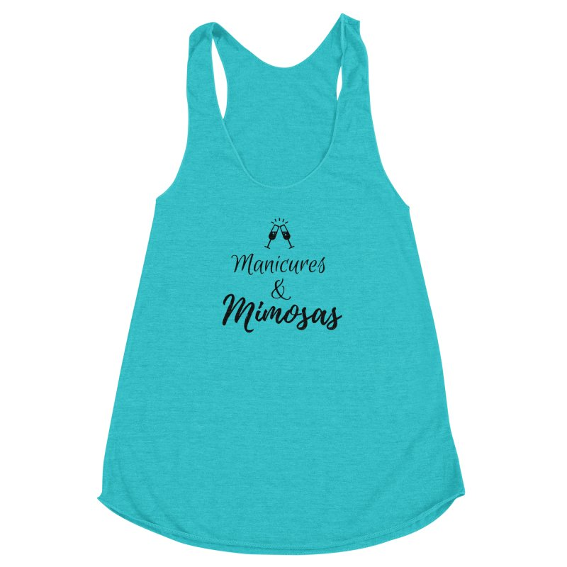 Manicures & Mimosas Women's Racerback Triblend Tank by Nails & Threads