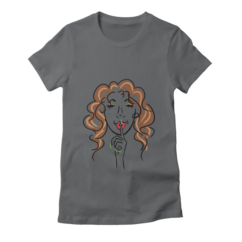 Shhhh! Women's Fitted T-Shirt by Nails & Threads