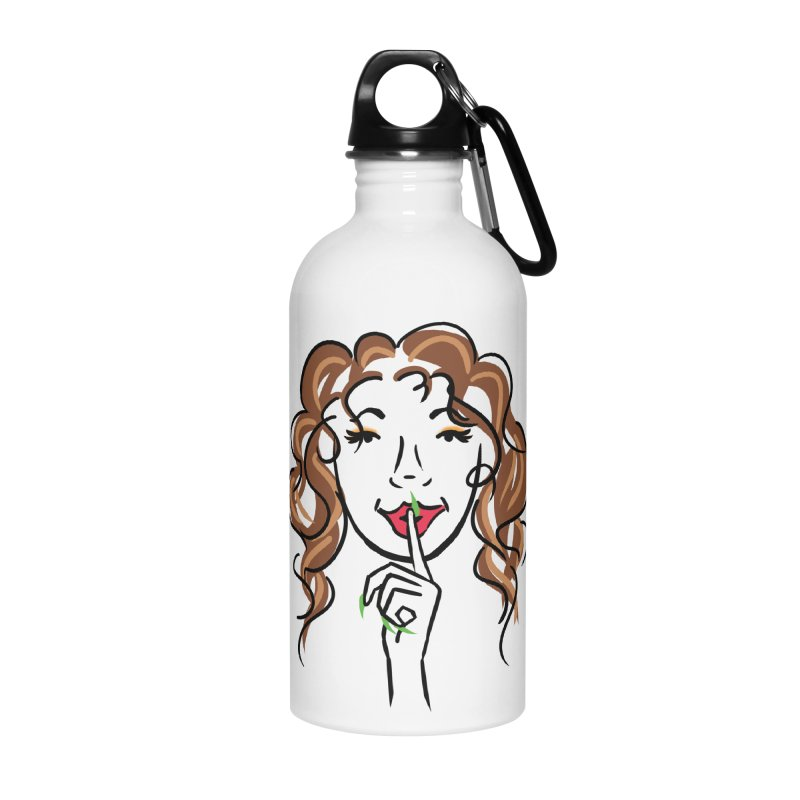 Shhhh! Accessories Water Bottle by Nails & Threads