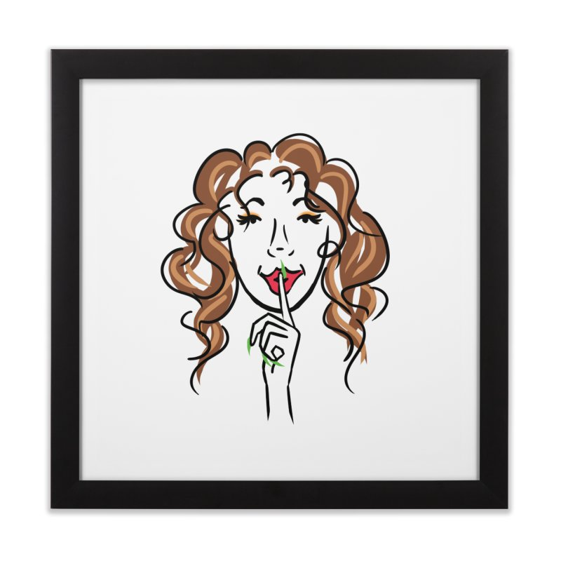 Shhhh! Home Framed Fine Art Print by Nails & Threads