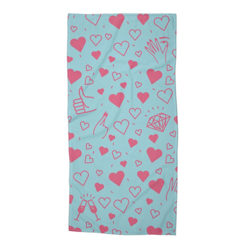 Love, NAILS Accessories Beach Towel by Nails & Threads