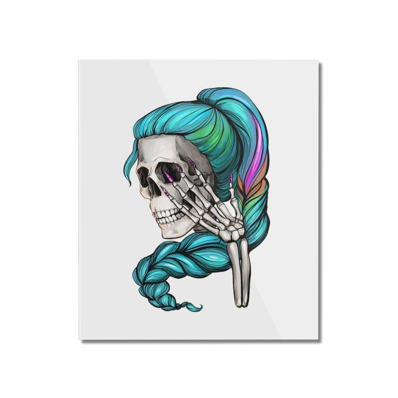 Pretty Dead Home Mounted Acrylic Print by Nails & Threads