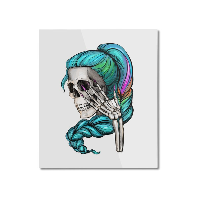 Pretty Dead Home Mounted Aluminum Print by Nails & Threads