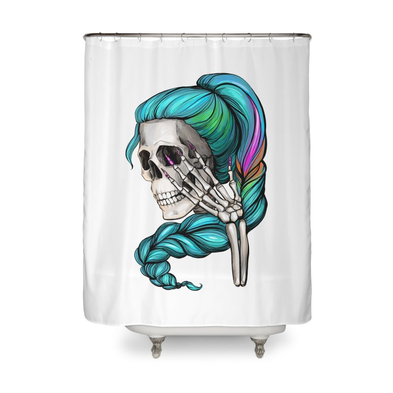 Pretty Dead Home Shower Curtain by Nails & Threads