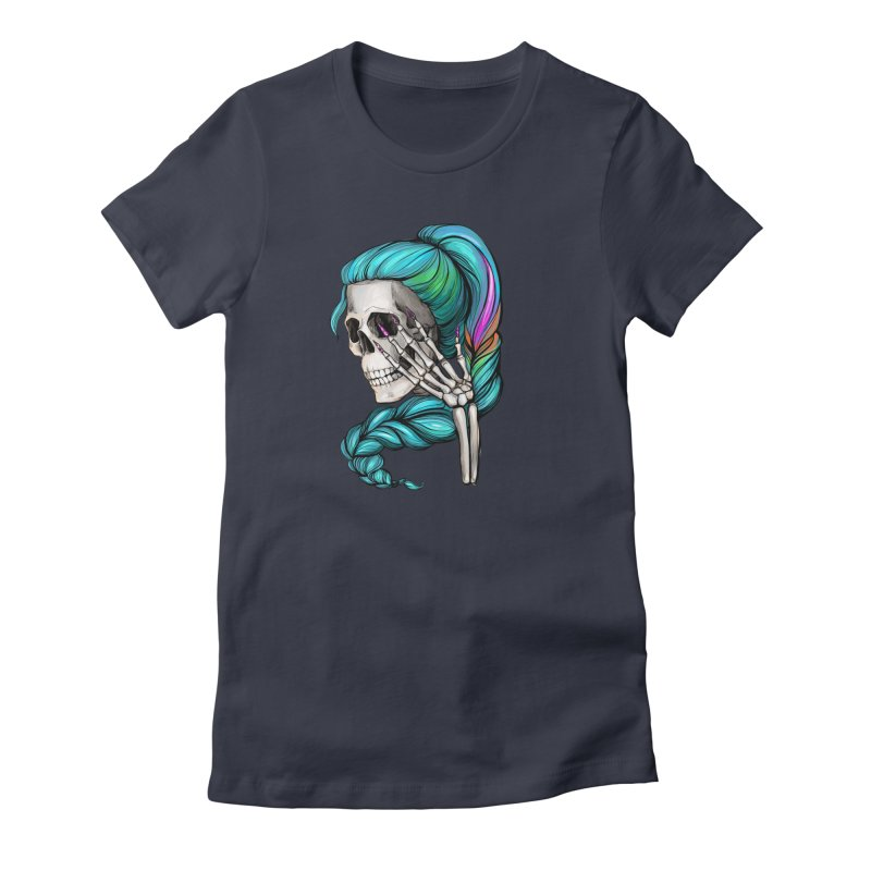 Pretty Dead in Women's Fitted T-Shirt Midnight by Nails & Threads