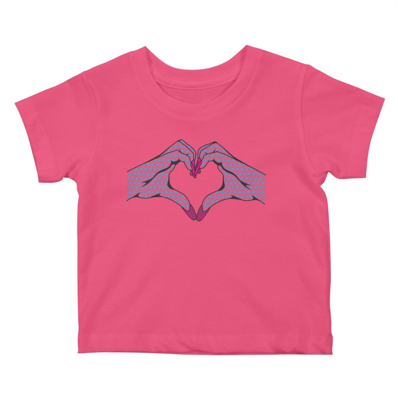 I ❤️ NAILS - Blue Dots Kids Baby T-Shirt by Nails & Threads
