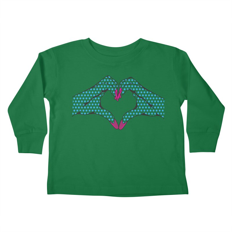 I ❤️ NAILS - Blue Dots Kids Toddler Longsleeve T-Shirt by Nails & Threads