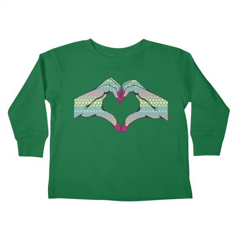 I ❤️ NAILS - Rainbow Dots Kids Toddler Longsleeve T-Shirt by Nails & Threads