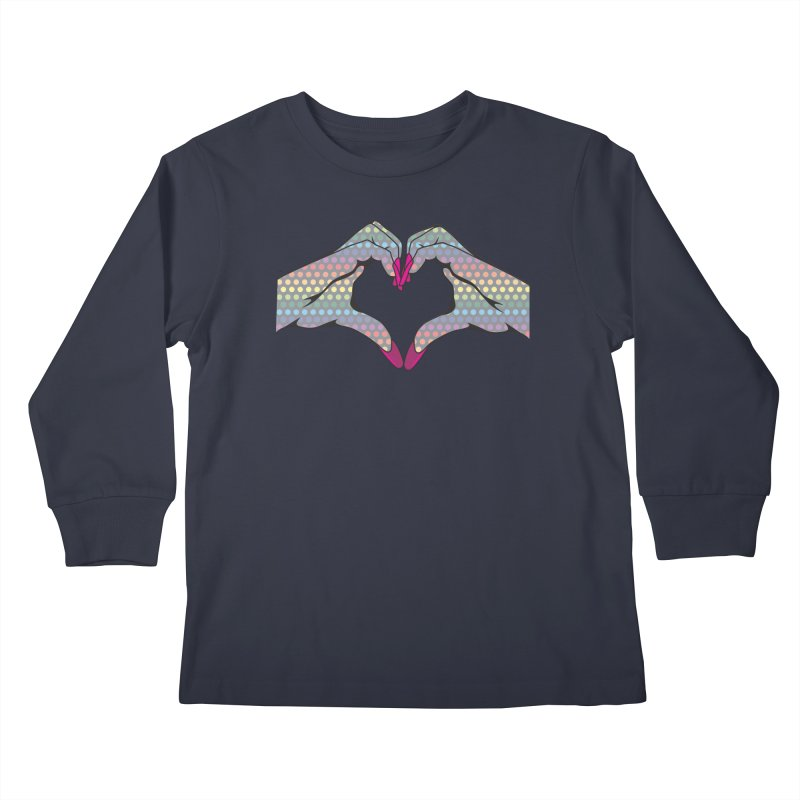 I ❤️ NAILS - Rainbow Dots Kids Longsleeve T-Shirt by Nails & Threads