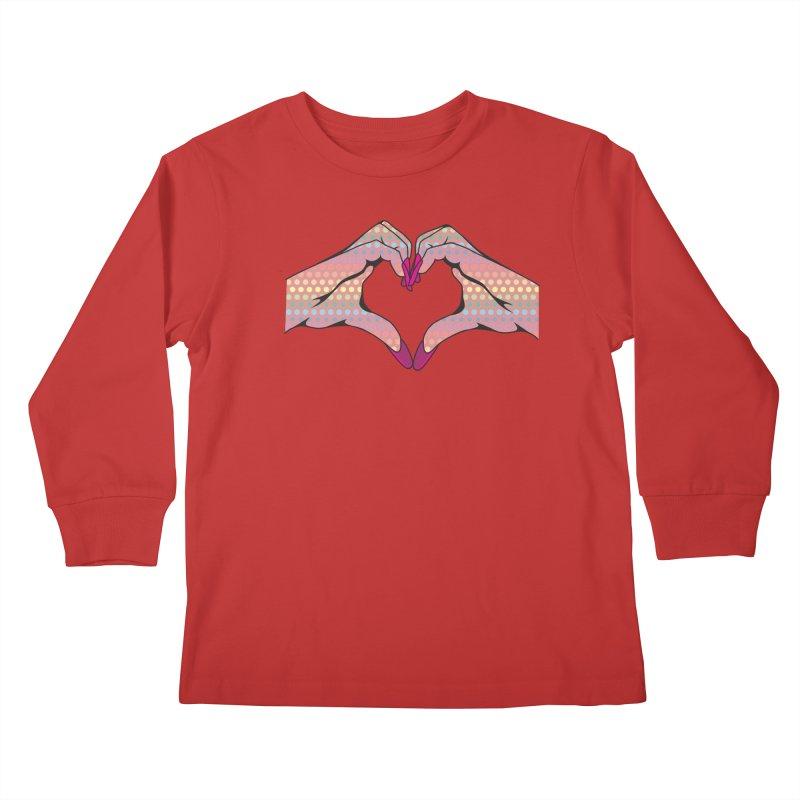 I ❤️ NAILS - Rainbow Dots Kids Longsleeve T-Shirt by Nails & Threads