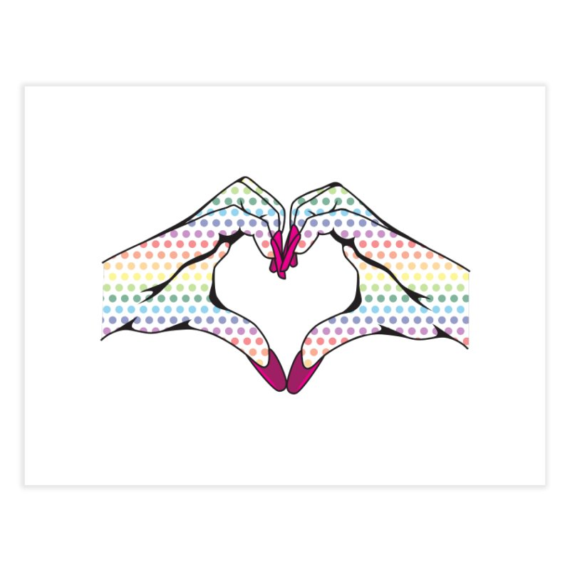 I ❤️ NAILS - Rainbow Dots Home Fine Art Print by Nails & Threads