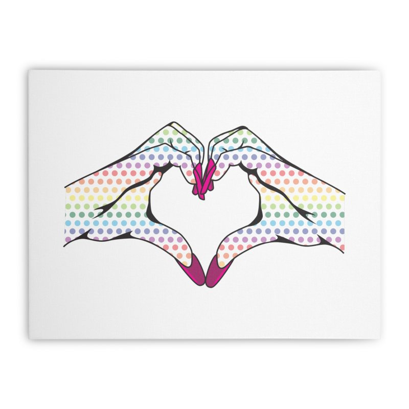 I ❤️ NAILS - Rainbow Dots Home Stretched Canvas by Nails & Threads