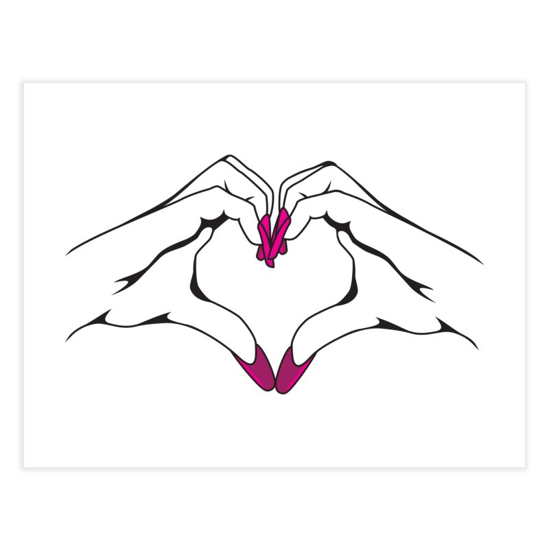 I ❤️ NAILS Home Fine Art Print by Nails & Threads