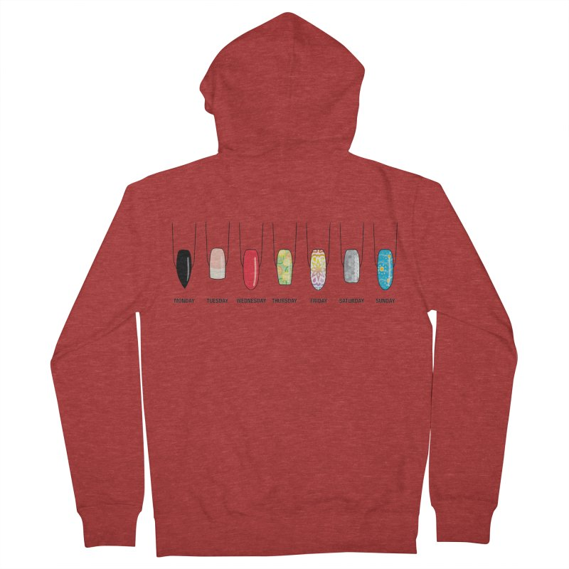 What Day is It? Women's French Terry Zip-Up Hoody by Nails & Threads