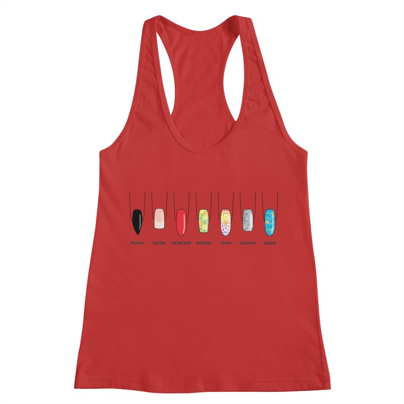What Day is It? Women's Racerback Tank by Nails & Threads