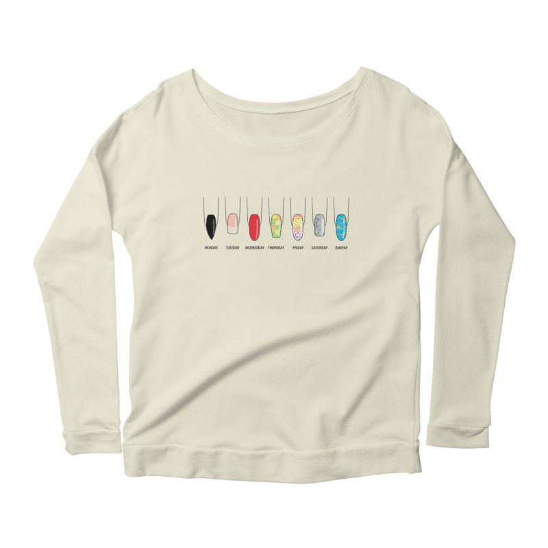 What Day is It? Women's Scoop Neck Longsleeve T-Shirt by Nails & Threads