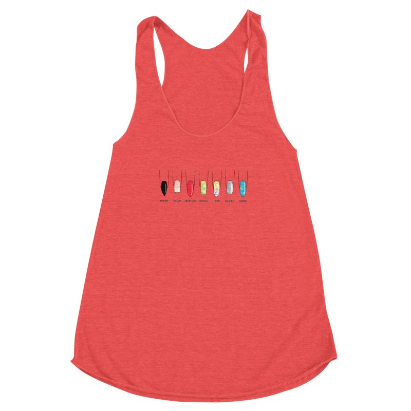 What Day is It? Women's Racerback Triblend Tank by Nails & Threads