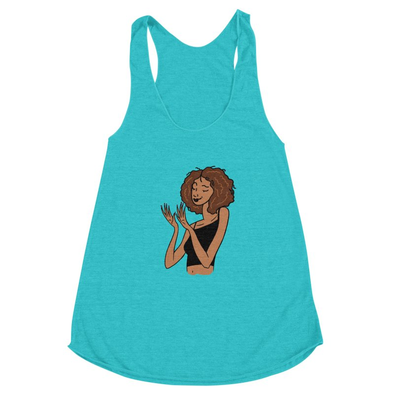 Just Admiring Women's Racerback Triblend Tank by Nails & Threads