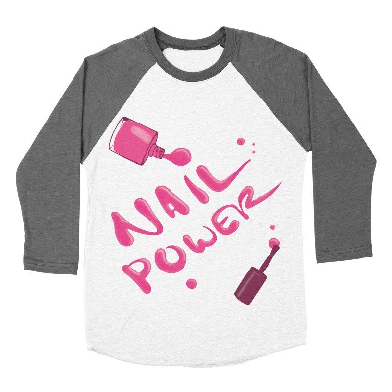 Nail Power Women's Baseball Triblend Longsleeve T-Shirt by Nails & Threads